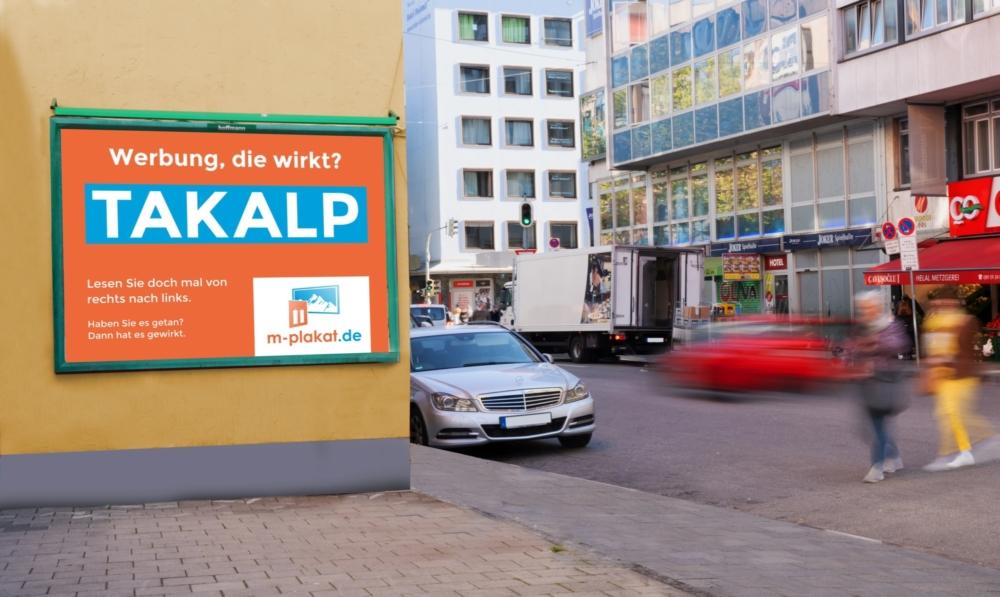 Plakatwerbung im Großformat - Außenwerbung in Ihrer Stadt die wirkt